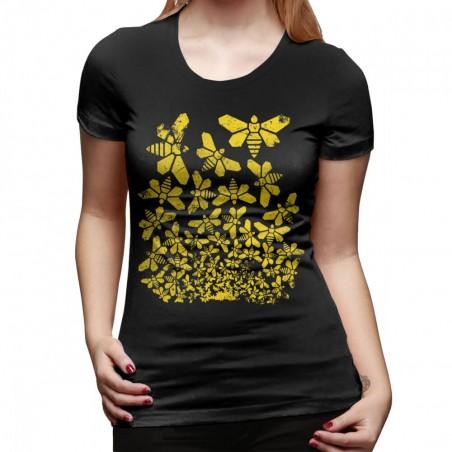 T shirt 1001 Abeilles Femme noir