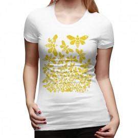 T shirt 1001 Abeilles Femme blanc