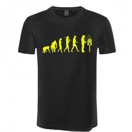 T-shirt Homme évolution de l'homme et des abeilles - jaune