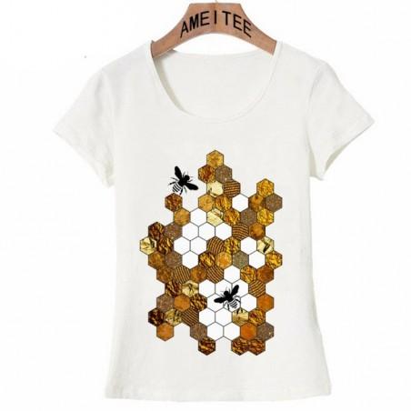 T shirt Nid d'Abeille Femme