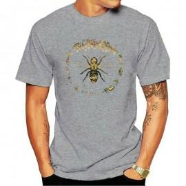 T-shirt Homme Abeille cercle nid d'abeille - gris