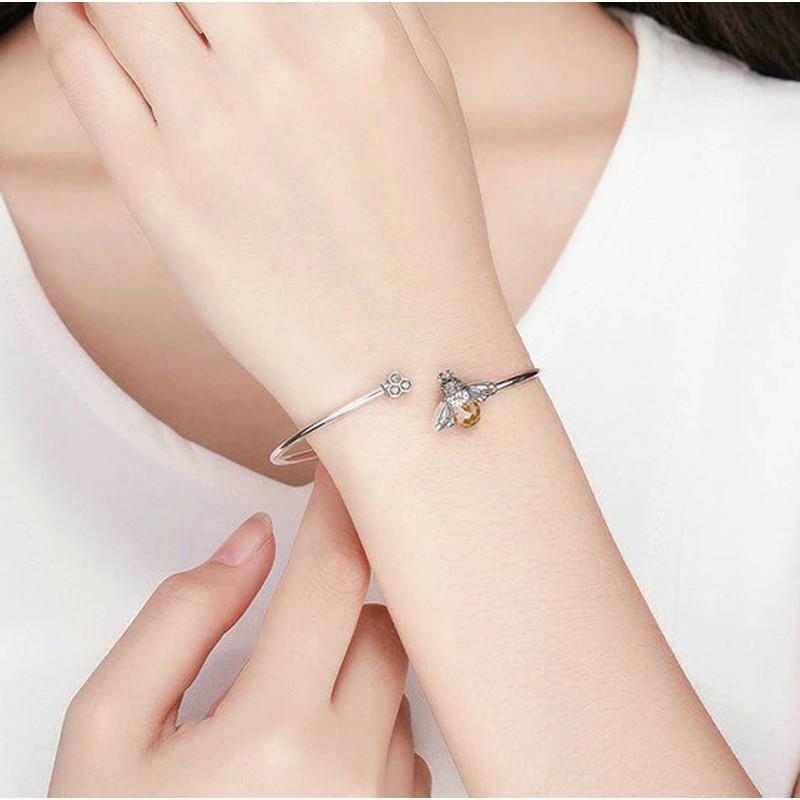 Bracelet en argent Sterling 925 avec cristal abeille