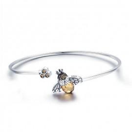 magnifique Bracelet en argent Sterling 925 avec cristal abeille