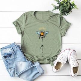 T-shirt femme Queen Bee à motif abeille kaki