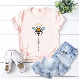 T-shirt femme Queen Bee à motif abeille rose pale