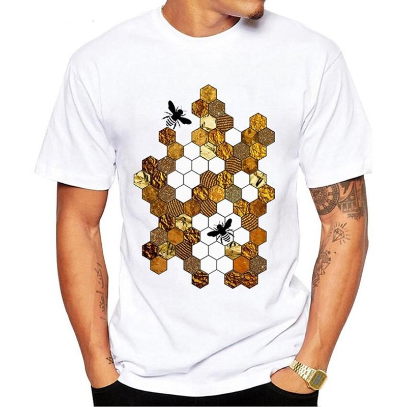 Tshirt nid d'abeille multicouleur pour homme