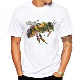 Tshirt abeille floral herbier pour homme
