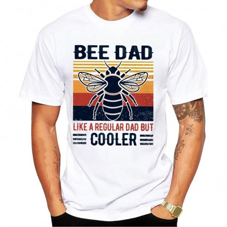 """Tshirt abeille """"Bee Dad like regular dad but cooler"""" pour homme"""