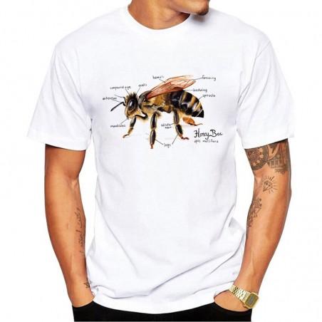 Tshirt anatomie abeille realiste pour homme