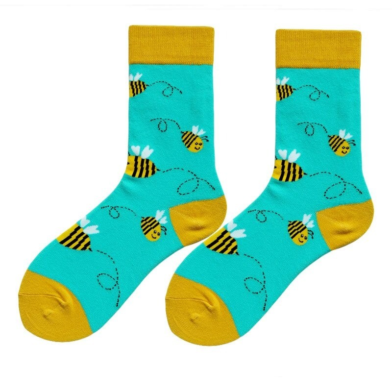 Paire de Chaussettes Homme Motifs abeilles