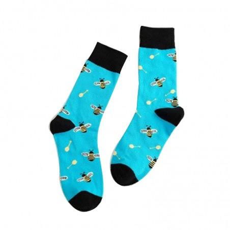 Paire de chaussettes basses sport Femme Motif abeilles