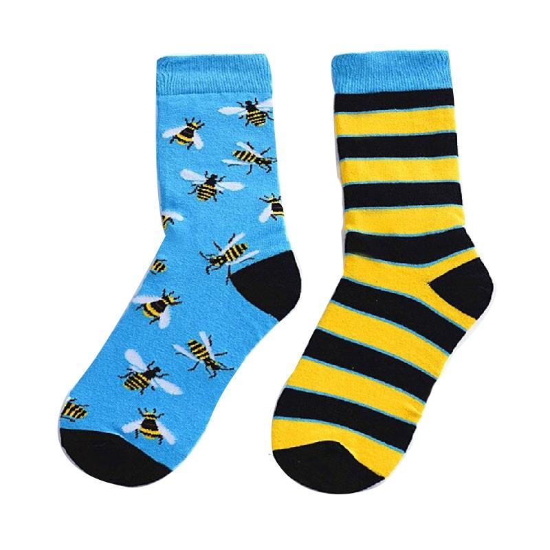 Chaussettes hautes pour hommes Motif abeille - Chaque chaussette est différente !