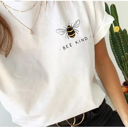 T-shirt Bee Kind pour femme blanc