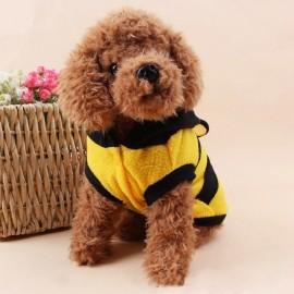 Manteau à capuche abeille pour chien vue devant