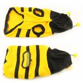Manteau à capuche abeille pour chien
