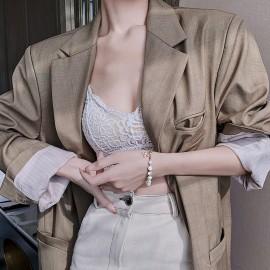 Bracelet en perle naturelle femme avec abeille en Zircon très mode