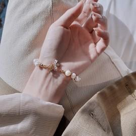Magnifique Bracelet en perle naturelle pour femme avec abeille en Zircon
