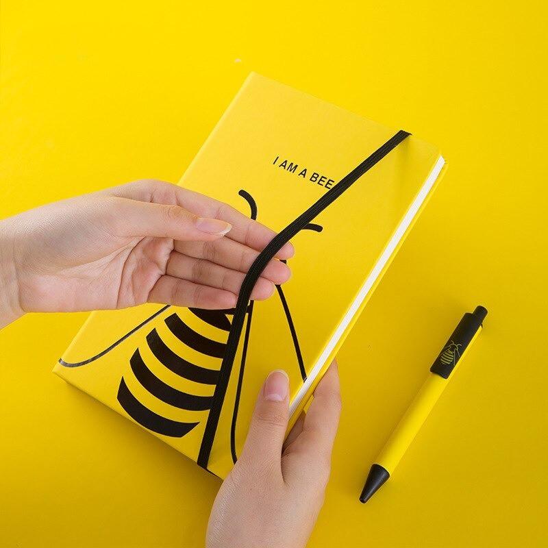 Carnet de notes et Journal intimeabeille elastique fermeture