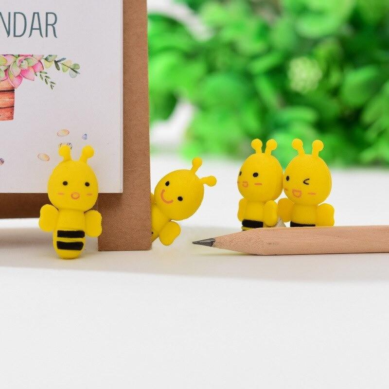 Gommes à crayon petite abeille jaune