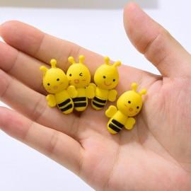 Magnifiques Gommes à crayon petite abeille jaune