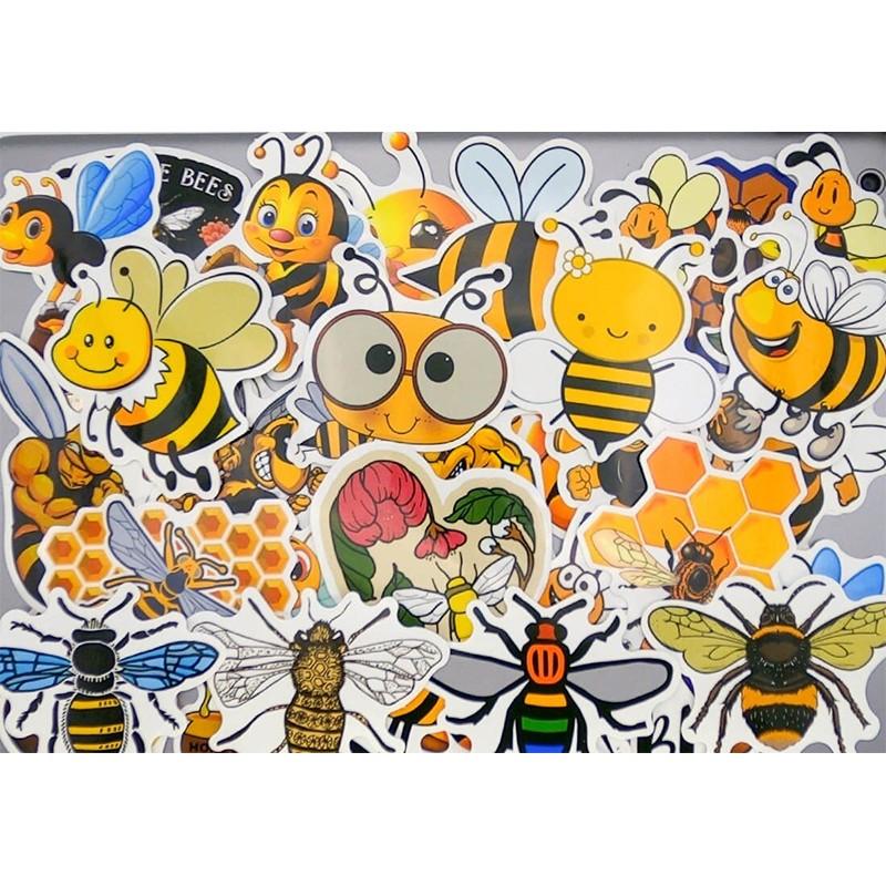 Lot autocollants abeilles