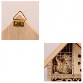 détail de la Maison en bois pour abeille